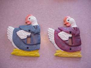 Beautiful Hand Painted Chicken Light Switch Covers-Several colors to choose