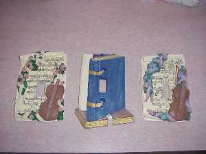 Beautiful Hand Painted Music theme or Book theme Switch Plates!