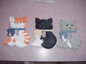 Beautiful Hand Painted Cat Switch Plate Covers-Several to choose from!